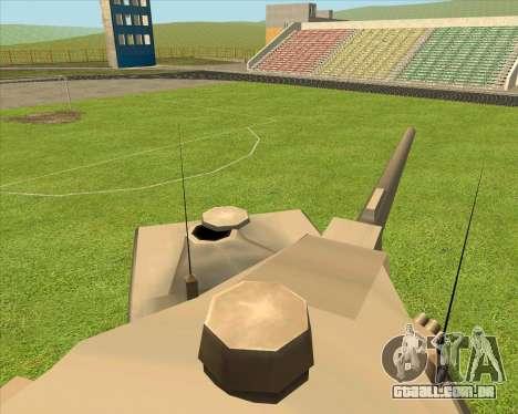 RhinoKnappe auf. 128mm Zenit-Waffe para GTA San Andreas traseira esquerda vista