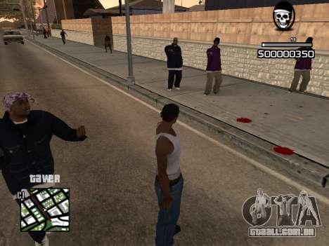 C-HUD By Kapo para GTA San Andreas segunda tela