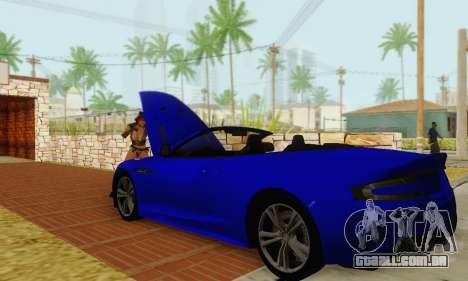 Aston Martin DBS Volante para vista lateral GTA San Andreas