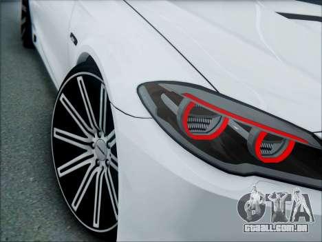 BMW 550 F10 VOSSEN para GTA San Andreas vista traseira