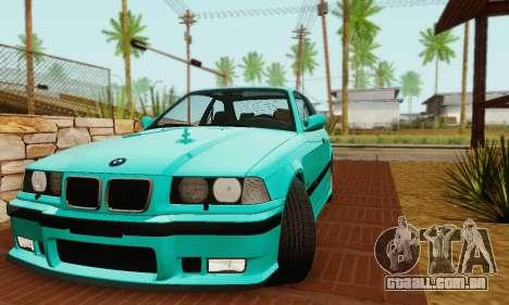 BMW E36 M3 1997 Stock para GTA San Andreas vista traseira