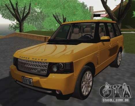 Range Rover Supercharged Series III para GTA San Andreas traseira esquerda vista