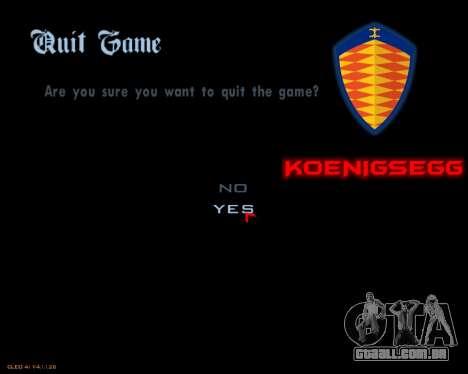Novo menu imagem para GTA San Andreas quinto tela