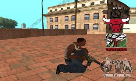 C-HUD Chicago Bulls para GTA San Andreas terceira tela