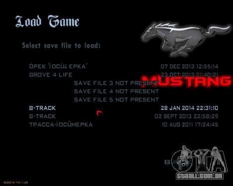 Novo menu imagem para GTA San Andreas terceira tela