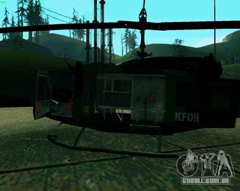 UH-1D Huey para GTA San Andreas vista traseira
