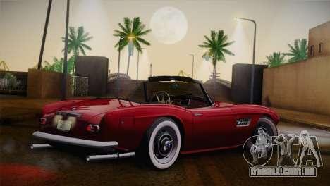 BMW 507 1959 Stock para GTA San Andreas esquerda vista