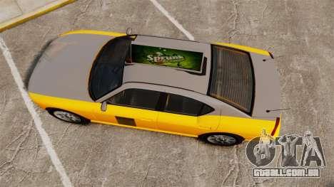 Bravado Buffalo Taxi para GTA 4 vista direita