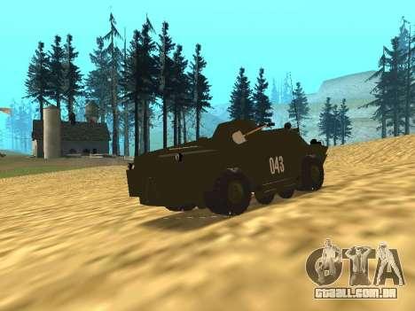 Guardas BRDM-2 para GTA San Andreas traseira esquerda vista