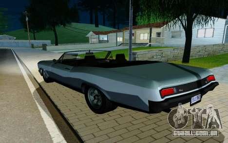 Albany Buccaneer из GTA 5 para GTA San Andreas esquerda vista