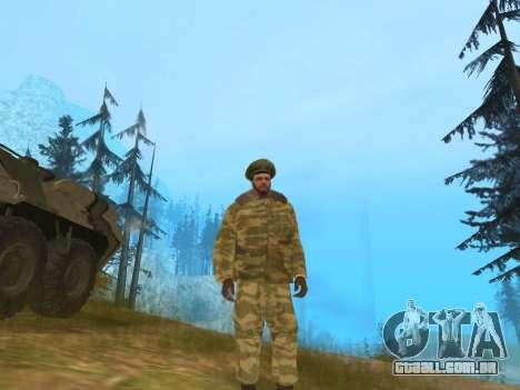 Pak exército russo serviço para GTA San Andreas segunda tela