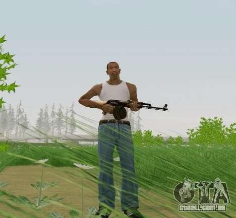 Kalashnikov Metralhadora Leve para GTA San Andreas terceira tela
