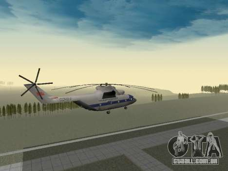 Mi 26 Civil para GTA San Andreas vista interior
