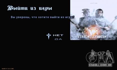 Metal Menu para GTA San Andreas terceira tela