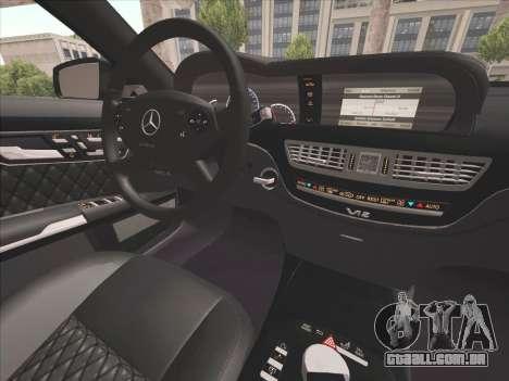 Mercedes-Benz S65 AMG 2012 para GTA San Andreas vista interior
