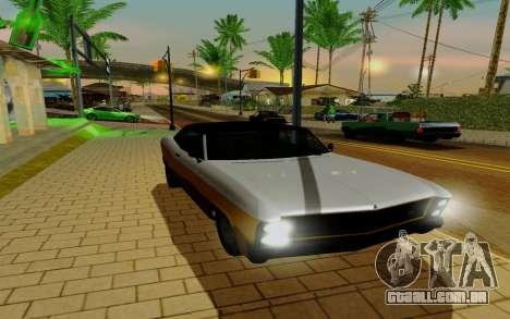 Albany Buccaneer из GTA 5 para GTA San Andreas vista direita