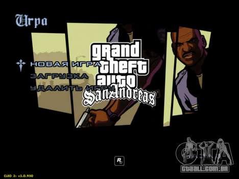 Menus HD V.2.0 para GTA San Andreas segunda tela