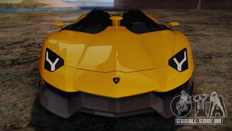 Lamborghini Aventandor J 2010 para GTA San Andreas interior
