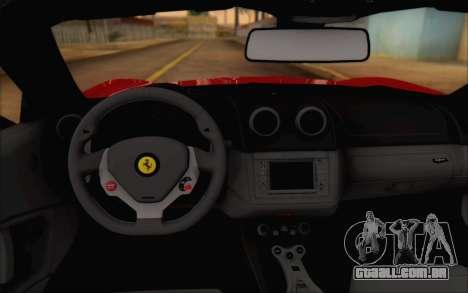 Ferrari California v2 para GTA San Andreas vista traseira