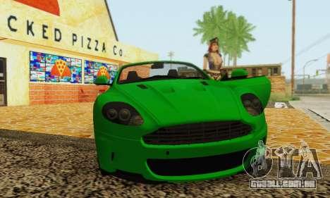 Aston Martin DBS Volante para GTA San Andreas vista traseira