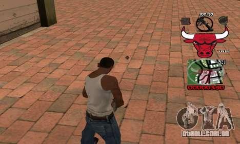 C-HUD Chicago Bulls para GTA San Andreas segunda tela