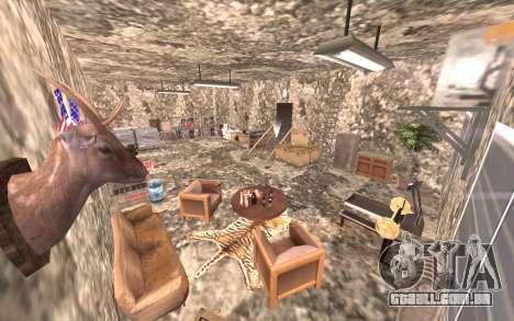 O porão da casa de Carl para GTA San Andreas quinto tela