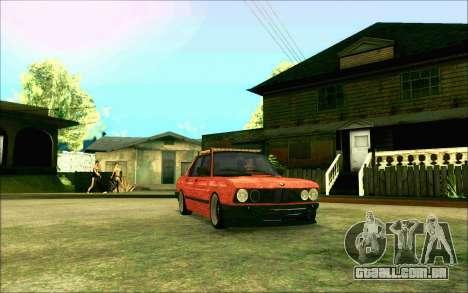 BMW M5 E28 RatStyle para GTA San Andreas vista traseira