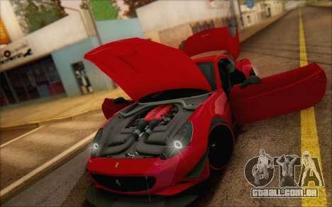 Ferrari California v2 para GTA San Andreas vista interior