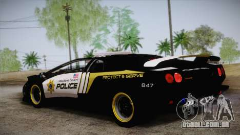 Lamborghini Diablo SV NFS HP Police Car para GTA San Andreas esquerda vista