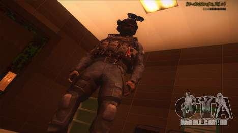 Sgt Keegan P.Russ из Call Of Duty: Ghosts para GTA San Andreas nono tela