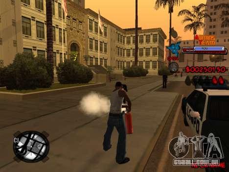 C-HUD Admins Team para GTA San Andreas nono tela