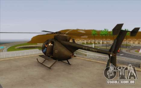 MH-6 Little Bird para GTA San Andreas esquerda vista