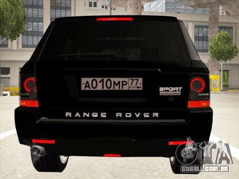 Range Rover Sport para GTA San Andreas vista superior