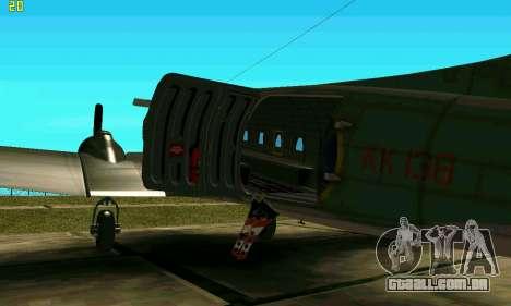 C-47 Dakota RAF para GTA San Andreas traseira esquerda vista