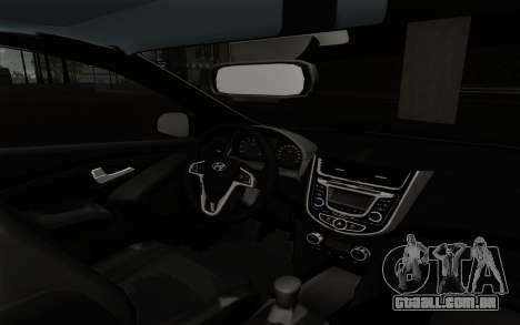 Hyundai Solaris para GTA San Andreas vista direita