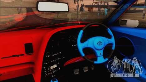 Toyota Supra 1998 Top Secret para GTA San Andreas vista interior