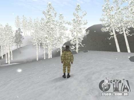 Pak exército russo serviço para GTA San Andreas por diante tela