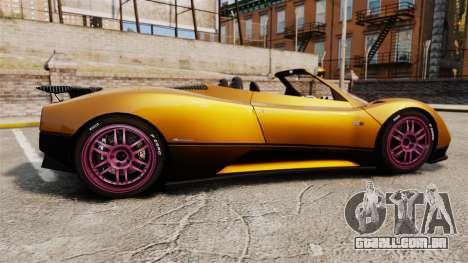 Pagani Zonda C12 S Roadster 2001 PJ2 para GTA 4 esquerda vista
