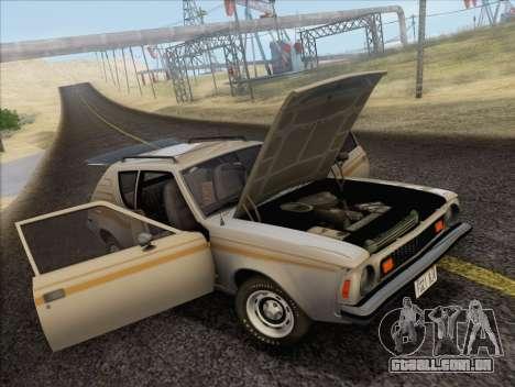 AMC Gremlin X 1973 para GTA San Andreas vista traseira