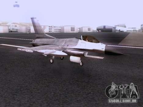 F-16 A para GTA San Andreas vista traseira