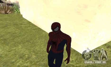 O novo homem-aranha para GTA San Andreas por diante tela
