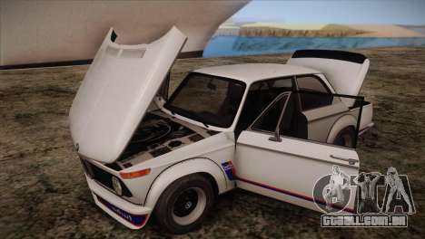 BMW 2002 1973 para GTA San Andreas vista interior