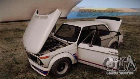 BMW 2002 1973 para GTA San Andreas vista interior