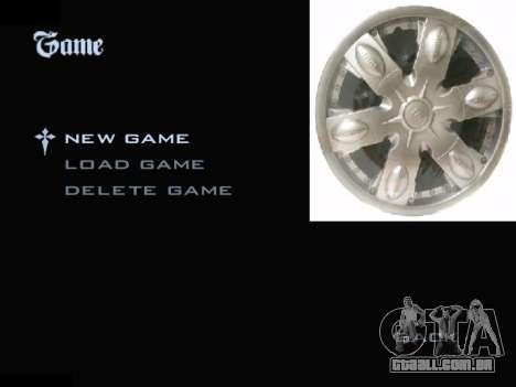 Menu De Automóveis Calotas para GTA San Andreas terceira tela