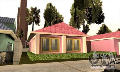 Casa nova Mili para GTA San Andreas terceira tela