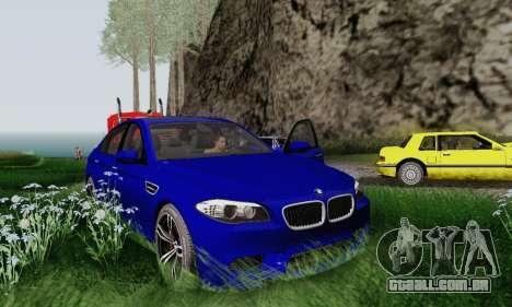 BMW F10 M5 2012 Stock para GTA San Andreas vista interior