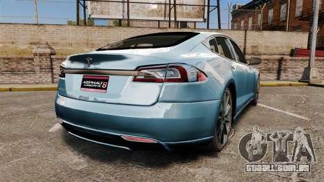 Tesla Model S para GTA 4 traseira esquerda vista