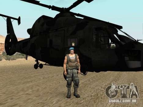 KA-60 para GTA San Andreas traseira esquerda vista