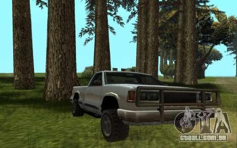 Yosemite Hunter para GTA San Andreas traseira esquerda vista