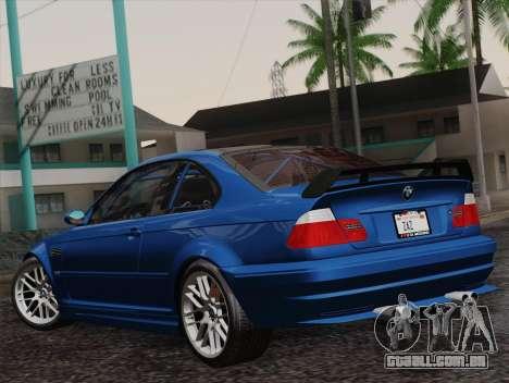 BMW M3 E46 GTR 2005 para GTA San Andreas esquerda vista